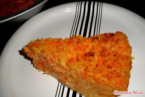 рецепт морковная запеканка