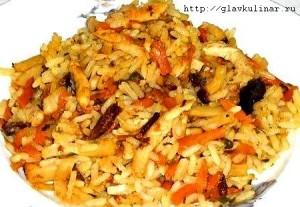 Китайский рис с овощами