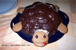 Бисквитный торт черепаха