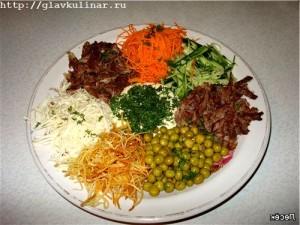 Салат огни парижа