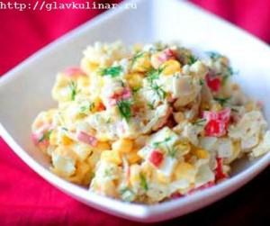 Рыбный салат с панировочными сухарями