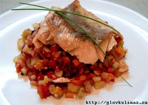 Стейки рыбы в мультиварке рецепты фото