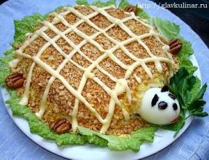 салат черепаха рецепт с фото