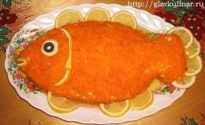 салат золотая рыбка фото