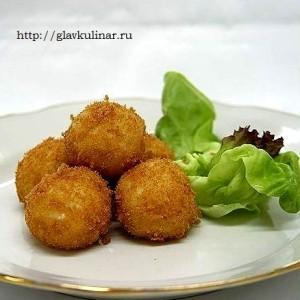 рецепт картофельных шариков с ветчиной и сыром