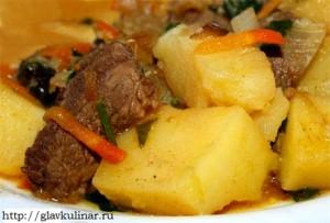 жаркое из мяса рецепт с фото