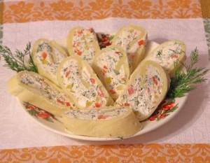 овощной сырный рулет