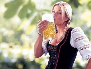пиво и женщина